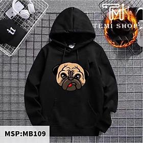 ( Best seller) Áo hoodie unisex chó mặt xệ có bigsize đên hơn 100kg