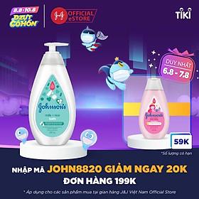 Sữa tắm Johnson's Baby chứa sữa và gạo (500ml)