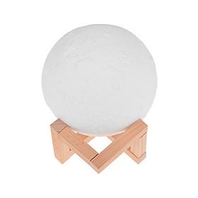 Hình đại diện sản phẩm Smart LED 3D Printing Moon Light Lamp With Stand Night Light Link APP Wifi 16 Million Colors Tapping Control Decorative - White (Diameter 15Cm)