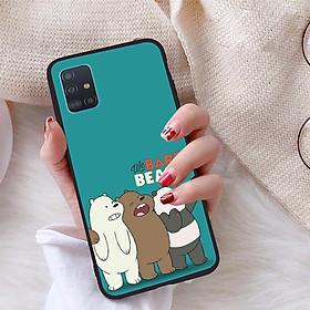 Ốp lưng dành cho Samsung Galaxy A51 viền dẻo TPU bộ sưu tập Chúng ta là gấu - Hàng chính hãng