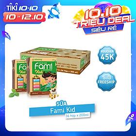 Thùng Sữa đậu nành Socola FamiKid (200ml x 36 Hộp)