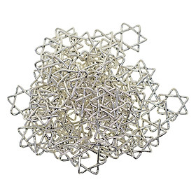 100 Pieces Tibetan Silver Star Of David Charm Pendant For DIY Jewlery Making