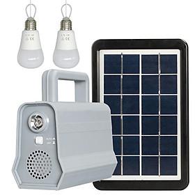 Bluetooth Speaker Solar Power Panel Night Light for Outdoor Camping Lighting