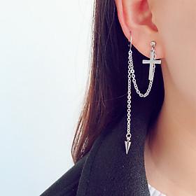 Bông tai unisex mặt dây chuyền thánh giá xỏ lỗ sụn trên cực cool