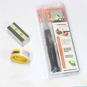 Mỏ Hàn USB 5V-8W Tặng 01 Thiếc Sunchi và 01 Hộp Nhựa Thông