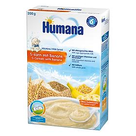 Bột Dinh Dưỡng Ăn Dặm Humana Có Sữa 5 Loại Ngũ Cốc - Chuối (200g)