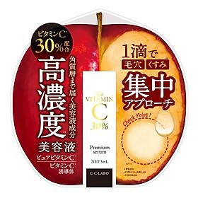 Tinh Chất Serum Vitamin C 30% Làm Trắng Da, Mờ Thâm Nám Và Tái Tạo Da CC Labo Premium Serum Từ Nhật Bản Chai 5ml