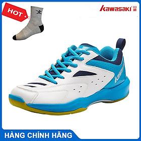 Giày cầu lông kawasaki K085 chính hãng dành cho cả nam và nữ, đế kếp, chống lật cổ chân - tặng tất thể thao bendu