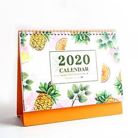 Lịch Để Bàn 2020 Hình Trái Cây - Quả Dứa (Kèm Sticker Trang Trí)