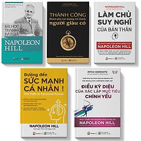 Combo 5 cuốn đường đến sức mạnh cá nhân+làm chủ suy nghĩ của bản thân+bài học thành công đắt giá của napoleon hill+điều kỳ diệu của xác lập mục tiêu chính yếu+thành công khám phá con đường trở thành người giàu có