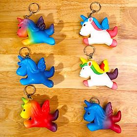 Squishy ngựa sừng có thể dùng làm móc khóa - Giao màu ngẫu nhiên