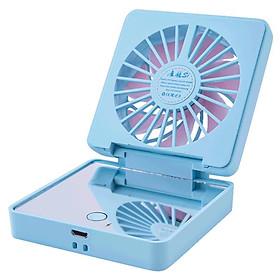 Quạt Cầm Tay Mini Kiêm Gương Soi Với Cổng Sạc USB Cho Du Lịch / Hoạt Động Ngoài Trời