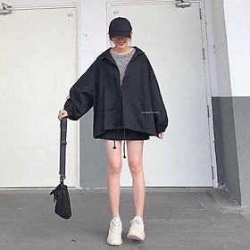 Áo khoác sơ mi nữ, áo khoác chống nắng nữ kiểu dáng cánh dơi chất kaki