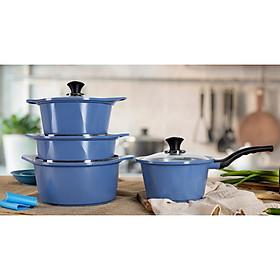 Bộ 4 nồi chống dính bếp từ Ecoramic CHÍNH HÃNG