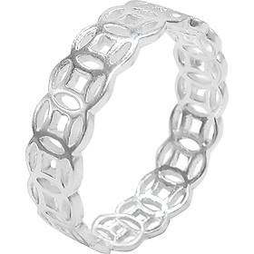 Nhẫn bạc nữ kim tiền trơn tài lộc - Trang sức bạc Panmila (NN.K2)