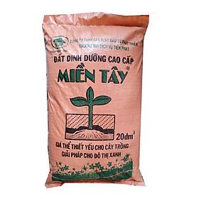 Đất hữu cơ trồng cây đa dụng - Đất sạch dinh dưỡng cao cấp Tiến Phát Miền Tây (20 dm3 )