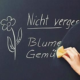 Bảng đen tập viết, tập vẽ tranh, tập làm toán... 2m x 45cm, bằng phấn thông thường, dễ lau chùi - Bảng viết đa năng dùng cho văn phòng- Bảng đen mini cho bé học tập tại nhà + Tặng hình dán cho bé
