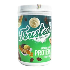 Sữa bổ sung protein hữu cơ từ hạnh nhân và đậu tằm dành cho người ăn chay Trusted Nutrition Organic Plant Protein 740g