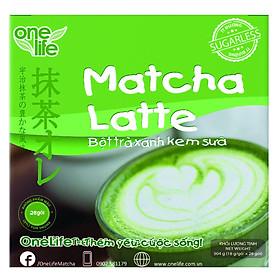 Trà Sữa Nhật Bản - Bột Trà Xanh Kem Sữa Matcha Latte OneLife (Hộp 28 gói)
