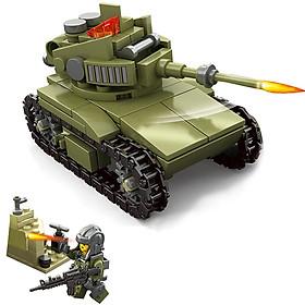 Xe tăng và lính chiến 161 chi tiết - mô hình lắp ghép mô phỏng chiến tranh