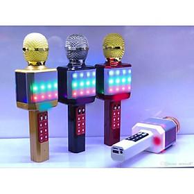 Micro Karaoke WS-1828 Kèm Loa Hát - Đèn Led + Tặng kèm 1 Ghế Đỡ Điện Thoại Đa Năng T2