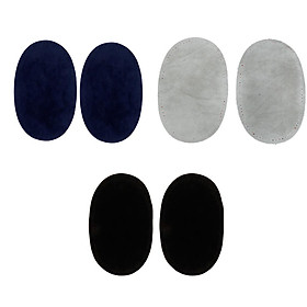 3 Pairs Suede Fabric Sew-on Elbow Knee Patches DIY Repair Sewing Appliques