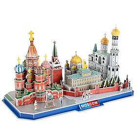 Bộ đồ chơi mô hình lắp ráp CubicFun 3D - Mẫu Thành Phố Bắc Moscow, Nga