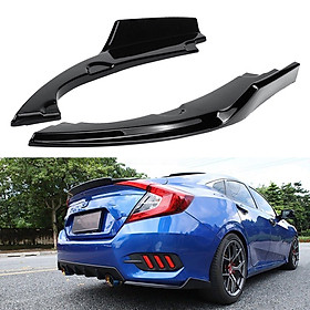 Car Rear Bumper Lip Diffuser Splitter Spoiler Bumpers Protector For Honda Civic