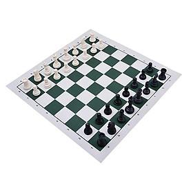 Bộ Cờ Vua Chất Liệu Nhựa ABS Kích Thước Tiêu Chuẩn (kích thước thi đấu 97x36) Kèm bàn Vải Da PU