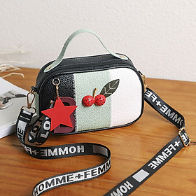 Women PU Leather Shoulder Bag Handbag Cute Street Holiday Beach Doctor Bag Crossbody Bag Casual Messenger Bag Handbag