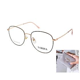Gọng kính, mắt kính chính hãng SARIFA 19026 DH (52-19-141) - Tặng 1 ví cầm tay (màu ngẫu nhiên)