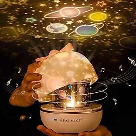 Đèn chiếu trần đèn led xoay tự động chiếu ngàn sao phát nhạc đèn ngủ đèn trang trí