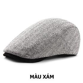 Mũ beret nam đẹp thu đông phong cách Hàn Quốc BR039 - Chất nỉ, siêu mềm, mịn - Có khuy đều chỉnh