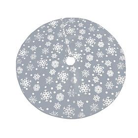 Christmas Tree Skirt Snow Flake Pattern, Snowflakes Xmas Tree Mat, 122CM Christmas Ornament Decoration, Festival Gift