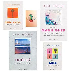 Combo Bộ Sách Jim Rohn : Chìa Khóa Thành Công, Những Mảnh Ghép Cuộc Đời, Triết Lý Cuộc Đời và Bốn Mùa Cuộc Sống - Châm Ngôn Cuộc Sống ( Tặng Kèm Sổ Tay )