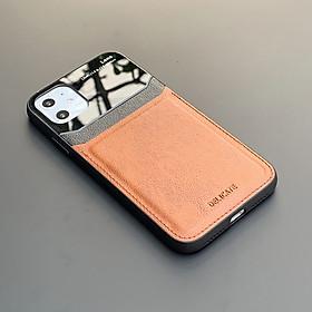 Ốp lưng da kính cao cấp dành cho iPhone 12 Mini / 12 / 12 Pro / 12 Pro Max - Hàng chính hãng