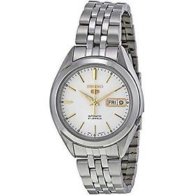 Seiko Men's SNKL17 Seiko 5 Automatic Silver Dial Stainless-Steel Bracelet Watch