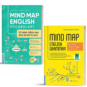 Sách - Combo Mindmap English Grammar và Mindmap English Vocabulary - Học Kèm App Online