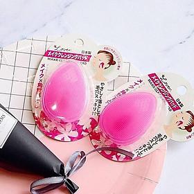 2 Miếng Pad Rửa Mặt Silicone Nhật