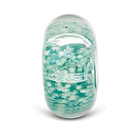 Hình đại diện sản phẩm Hạt charm DIY PNJSilver hình dẹt tròn màu xanh lá 14479.000-BO