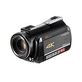 Máy Quay Phim Andoer AC5 4K Chống Sốc Kết Nối Wifi Màn Hình Cảm Ứng + 2 Pin + Lens Rời + Che Lens + Mic Rời (24MP) (3.1 Inch) (12X Zoom) (0.39X Lens)