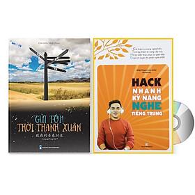 Sách - Combo gửi tôi thời Thanh Xuân song ngữ Trung việt có phiên âm MP3 nghe + Hack nhanh kỹ năng nghe tiếng Trung +DVD tài liệu