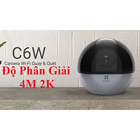 camera IP Wifi Ezviz C6W Siêu Nét 4Mp Độ Phân Giải 2K Xoay Quét 360 Độ Kèm Thẻ 32G-Hàng Chính Hãng