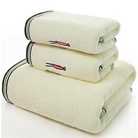 Bộ 3 ( 1 Khăn tắm +2 khăn mặt ), chất liệu cao cấp siêu thấm 8700205