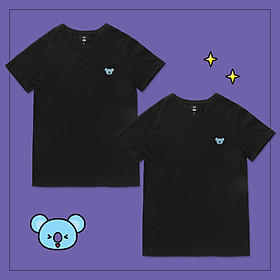 Set 2 áo thun BT21 x HUNT 2Pack Set Black Koya HIXH8A901T