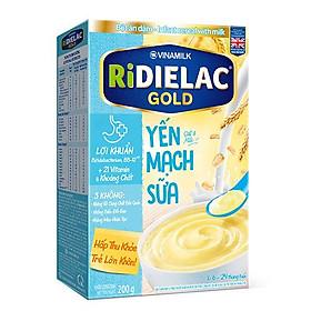 COMBO 2 HỘP BỘT ĂN DẶM RIDIELAC  GOLD YẾN MẠCH SỮA - HỘP GIẤY 200G