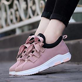 Giày Sneakers Slip-On nhẹ mùa thu nữ phẳng