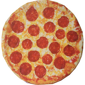 Gối Ôm In Hình Bánh Pizza 3D Tròn Nhiều Mẫu Hot Giống Thật
