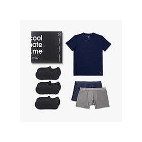 Trial Box tủ đồ tiết kiệm cho nam giới gồm 1 áo thun, 2 quần lót boxer và 3 đôi tất lười thương hiệu Coolmate - BOX DÙNG THỬ ON-TRIP