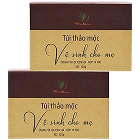 Combo 2 Hộp Túi Thảo Mộc Xông Vùng Kín Thơm Tho Cho Mẹ Bầu & Sau Sinh Wonmom (10 Túi/Hộp)